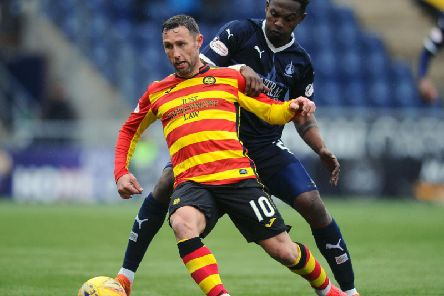 Scott McDonald in action for Partick Thistle (pic by Michael Gillen)