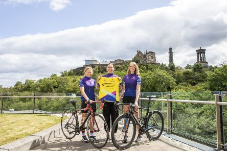 Katie Archibald (centre) will be targeting the race leader's jersey.