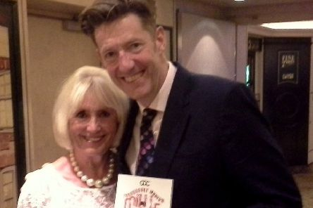 William Ivory with HODC member May Weir