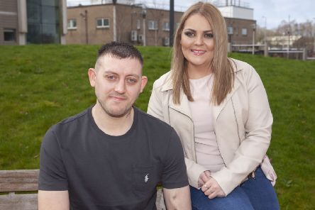 Allan McGowan meets Jennie Differ seven weeks after undergoing a kidney transplant
