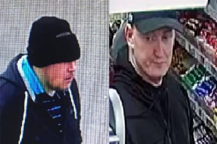 Police release images of two suspects following incidents in Hamilton Road, Motherwell, last month