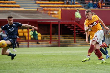 David Turnbull nets the matchwinner in a 4-3 league triumph over Dundee last month (Pic by Ian McFadyen)