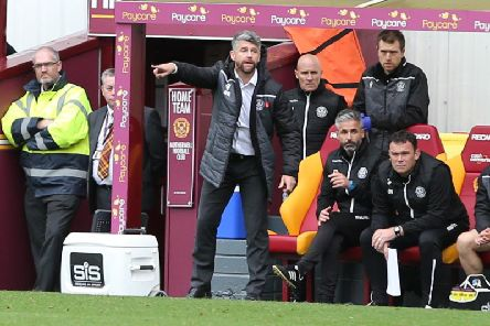 Stephen Robinson has led Motherwell to a current Scottish Premiership placing of fourth despite working on a shoestring budget (Pic by Ian McFadyen)