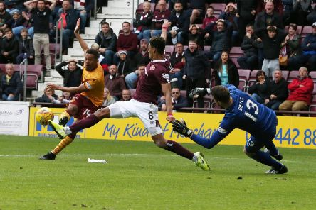Jermaine Hylton scores for Motherwell at Tynecastle three months ago. What was the final score?