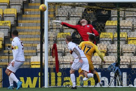 Mark Gillespie made a string of saves at Livingston (Pic by Ian McFadyen)