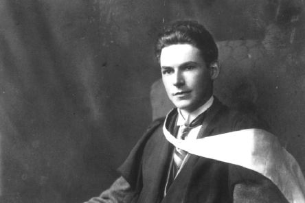 Scottish writer William Soutar, at his graduation from Edinburgh University in the 1920s.
