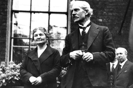 Ramsay MacDonald, seen with Margaret Bondfield, the first female Cabinet Minister, was Prime Minister when his Labour government collapsed and he formed a national coalition under his leadership (Picture: Central Press/Getty)