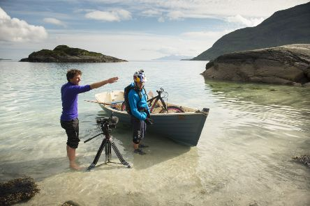 Cut Media founder Stu Thomson (left) with cyclist and long-time collaborator Danny MacAskill