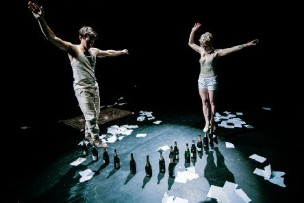David Carberry and Alice Muntz balance on more than bottles. Picture: Contributed