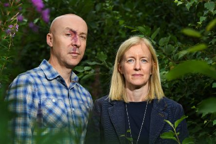 Chris Brookmyre and wife Marisa Haetzman, two very different types of writers, have produced a novel with the best of both of them in it. PICTURE: JOHN DEVLIN