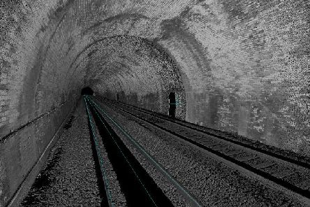 The Mossgiel tunnel new Kilmarnock was surveyed as part of assesment for future freight capacity growth on Scotland's railways