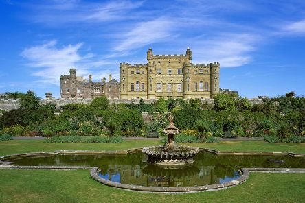 Culzean Castle viewed from the Fountain Garden. The revamp includes the creation of new orchards, a nuttery and a brewing garden. Photograph: NTS/David Robertson