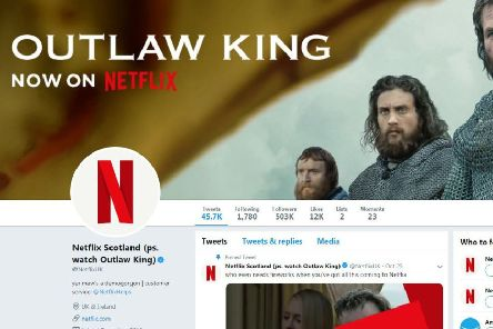 Netlfix has rebranded to celebrate the release of Outlaw Kinf. Picture; Twitter.