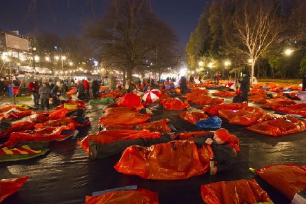 The Sleep in the Park event will see around 12,000 people sleeping rough in Edinburgh, Glasgow, Aberdeen and Dundee (Photo: JPIMedia)
