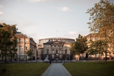 An artist's impressions of how the proposed Impact Centre will look from St Andrew's Square
