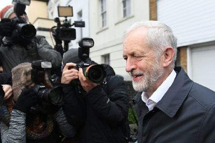 Labour leader Jeremy Corbyn leaves his home in north London ahead of his motion of no confidence in the Government being debated in Parliament. Picture: Joe Giddens/PA Wire