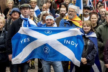 Campaigners for IndyRef2 on the streets of Glasgow in July 2018. Picture: John Devlin