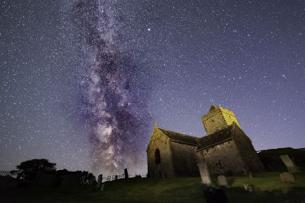 St Celment's Church, Rodel, Harris by Mark Stokes, part of the Dark Skies Festival Exhibition at An Lanntair, which opens on 8 February