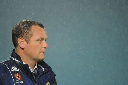 Jim Magilton looks on during a Melbourne Victory match away to Gold Coast United. Picture: Getty Images