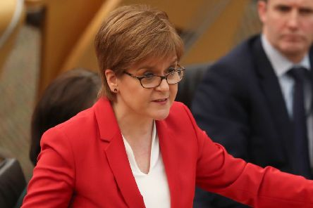 Nicola Sturgeon is facing MSPs this lunchtime. Picture: Jane Barlow/PA Wire