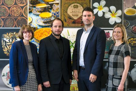 L to R: Mairi Prior, finance director, Danny Cowie, managing director, Allan Smith, business development director, Julie Murray, creative director. Picture: Contributed.