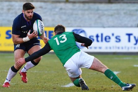 Currie's Robbie Nelson scored a try for the Scotland Club XV. Picture: SNS