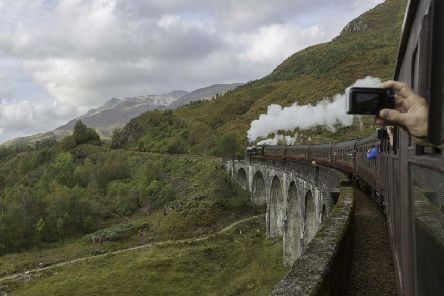 Tourists from all over the world visit the picturesque site made famous by the Hogwarts Express in the Harry Potter films.''Picture: Yui Mok/PA Wire