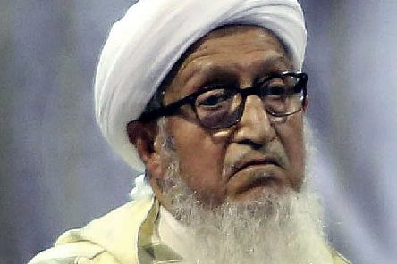 Sibghatullah Mujadidi in 2019 (Picture: AP Photo/Rahmat Gul, File)