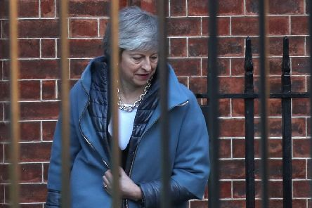 Theresa May leaves 10 Downing Street  for the House of Commons ahead of a Brexit vote today. Picture: PA