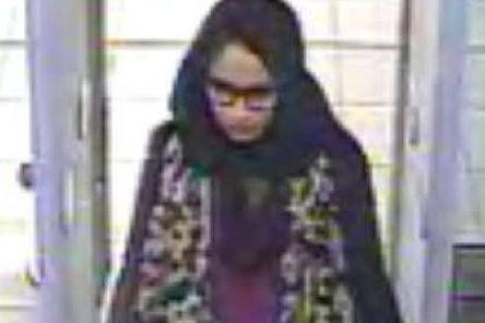 Shamima Begum, then 15, seen at Gatwick Airport in 2015 as she travelled to Syria (Picture: AFP/Getty)