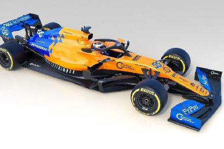 The McLaren MCL34, unveiled at the team's Woking base. Picture: MacLaren/PA
