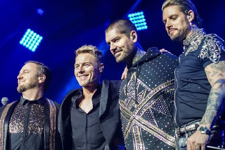 Keith Duffy, Shane Lynch, Mickey Graham and Ronan Keating of Boyzone. Picture: REX/Shutterstock