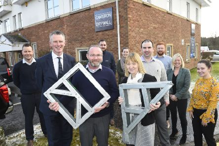 Steedman (left) with Business Gateway's Jim Henderson and West Lothian Councillor Cathy Muldoon. Picture: Greg Macvean