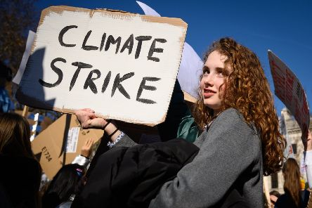 Thousands of UK pupils staged a 'climate strike' last week to demand more urgent action is taken on global warming. Picture: Leon Neal