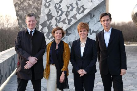 Nicola Sturgeon announced the appearance of Orchestre de Paris at the Edinburgh International Festival during a visit to France to promote links with Scotland.