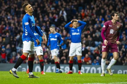 Rangers captain James Tavernier is dejected. Picture: SNS/Alan Harvey