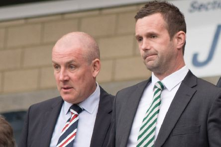 Mark Warburton, left, with Ronny Deila ahead of the Scottish Cup semi-final in April 2016. Picture: SNS Group