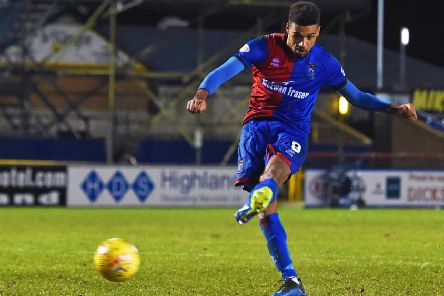 Nathan Austin converts from the spot to book Inverness Caley Thistle's place in the Scottish Cup quarter-finals. Picture: SNS