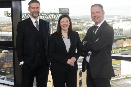 Graeme Finnie (left) with audit partners Nicola MacLennan and Stephen Hughes. Picture: contributed.