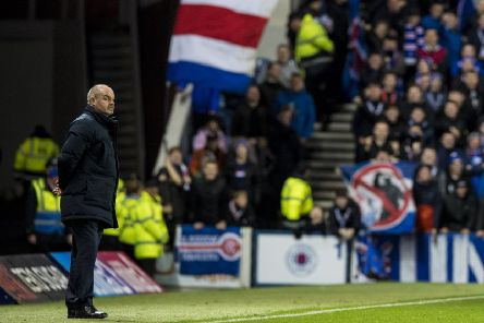Kilmarnock manager Steve Clarke at Ibrox. Picture: Alan Harvey/SNS