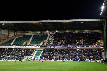 Rangers were given less than 2000 tickets in the South Stand when they travelled to Hibs in December. Pic: SNS