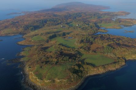 The island of Mull was bought  by residents last June. PIC: Contributed.
