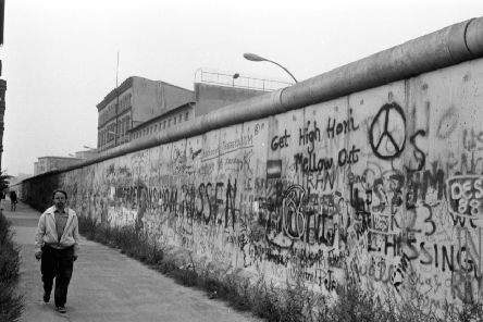 Parts of the Berlin Wall ' erected to prevent people fleeing from Communist East Germany to the democratic West ' have been preserved to ensure no one forgets this appalling time (Picture: Brian Stewart)