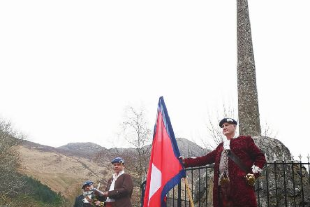 The group commemorated the anniversary of the Glencoe Massacre