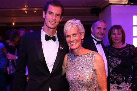 Andy Murray and Judy Murray at the Winners Ball after his 2013 Wimbledon win. Picture: Julian Finney/Getty Images