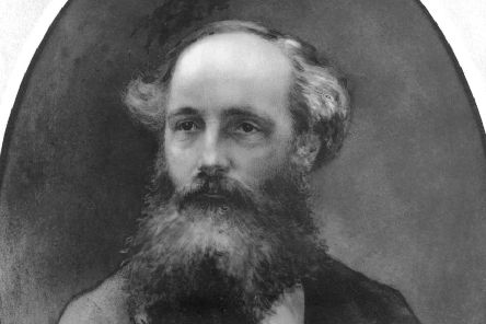 Scottish physicist James Clerk Maxwell (1831 - 1879), whose most important work was on the theory of electromagnetic radiation. Painted on china by an unknown artist from a photograph.  (Photo by Hulton Archive/Getty Images)