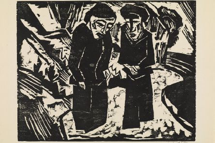 Mourning Women on the Beach, 1914  by Karl Schmidt-Rottluff PIC: The Hunterian, University of Glasgow