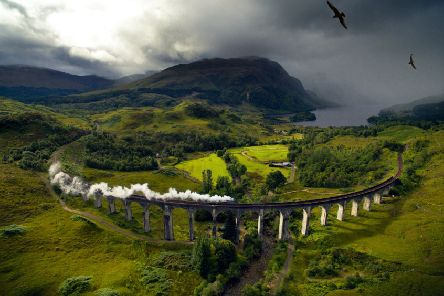 The Glenfinnan  viaduct was used as a location in the Harry Potter films. Picture: Getty