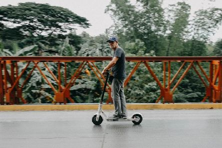 Electric scooters are legal on roads in several European countries. Picture: IAM RoadSmart
