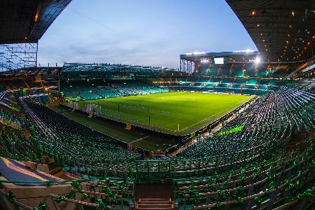 A general view of Celtic Park before an evening fixture
